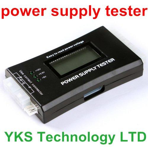 1Pcs Checker 20/24 pin SATA HDD ATX BTX Computer PC Power Supply Tester Meter LCD Free Shipping(China (Mainland))