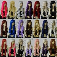 16 Color Heat Resistant 32 in. Long Spiral Curly Cosplay Wig Free Shipping 83G