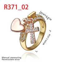 New Arrival 18K Gold Plated Ring,Fashion Jewelry Ring,18K Rhinestone Austrian Crystal Ring Men Women Wedding Rings SMTPR371