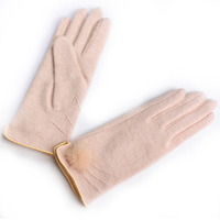 Wool gloves winter thermal women's short design gloves y007