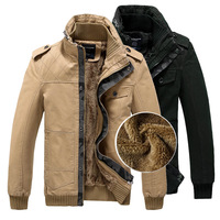 Mens Winter Jacket Brand Fleece Thicken Warm Coat 100% Cotton Padded Short Design Slim Polo Double Stand Collar Overcoat