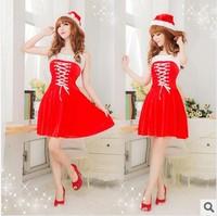 Spaghetti strap christmas princess dress small dress