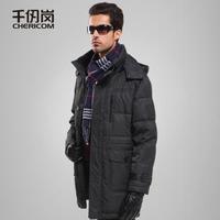11 down coat fashion male business casual medium-long down outerwear 1678