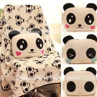 Hot sale 1pc 80cm soft creative cute face panda plush cushion rest blanket hold pillow stuffed toy children girl birthday gift