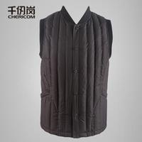11 Men sleeveless down coat down vest male vest 8025