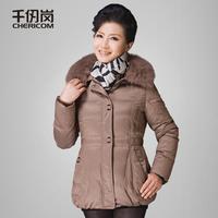 11 women's mother clothing noble fox fur quinquagenarian down coat medium-long female 1742