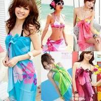 2013 Promotion Fish swimwear bikini mantillas chiffon scarf mantillas yarn beach towel magicaf all-match