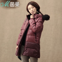 Inman 2013 winter thickening female down coat with a hood medium-long down coat 824121011
