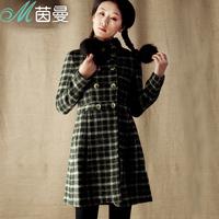 Inman 2013 winter slim design long overcoat woolen outerwear female 8333200159