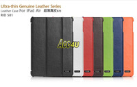 Original iCarer ultrathin Genuine Leather Case For iPad Air,100%Cowhide For iPad Air Case Luxury,Support Sleep & wake up