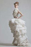 New Arrivals  Hight Low Scoop Appliques Organza  krikor Jabotian wedding dresses Special Occasion dresses