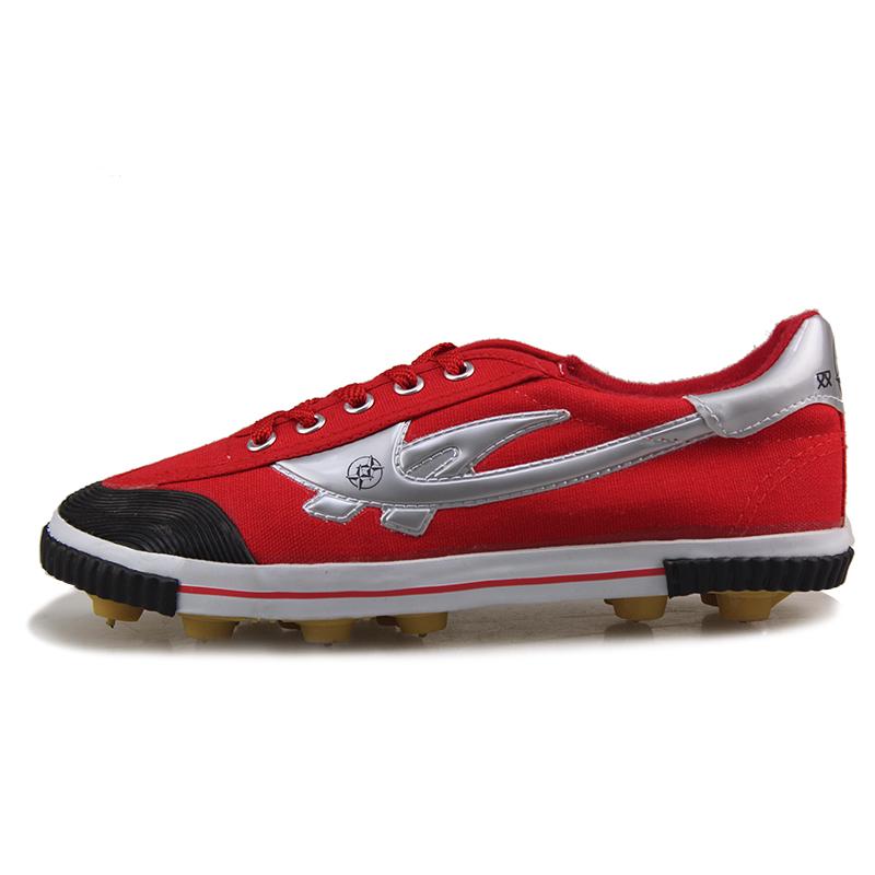 Red star amphiaster football shoes broken male female child football shoes canvas shoes(China (Mainland))