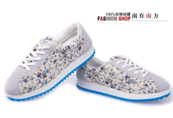 Женские кеды 2013 new high quality casual flower women sport shoes breathable sneakers for women running shoes WSS3