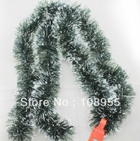 Christmas decoration christmas gift decoration garland dark green color of caterpillar christmas supplies