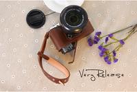 Genuine leather camera bag fuji xm1 xa1 fuji camera bag set fuji x-m1 camera case