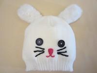 2014 New Kids Winter cap Big Brand Knitted hat Woolen Hat Fashion hat Baby Knit Cap Lovely Rabbit   2 size 1-3Y,3-6Y
