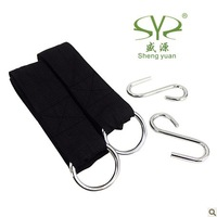 Free Shipping hammock hanging belt hammock strap rope with metal buckle load 200kg
