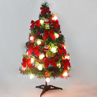 60cm fruit light Christmas tree Decoration Christmas tree small mini Christmas tree set New Year Gift