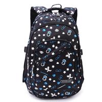 Free shipping Print second grade three double-shoulder school bag