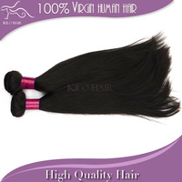 100% Virgin Brazilian Human Hair Weft Extensions Unprocessed Natural Color AAAAA Silky Straight free shipping on sale 2pcs lot