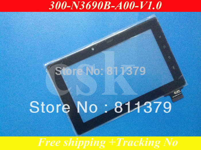 """(Ref:300-N3690B-A00)7""""inch LCD touch screen digitizer touch panel glass for Freelander PD10 PD20 Tablet Cable width:18.5mm(China (Mainland))"""