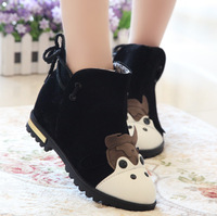 Hot sale! 2013 new women's shoes lacing small dairy cow martin boots ankle boots flat heel single boots nubuck leather boots