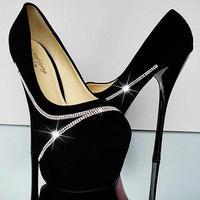 size 35-39 ladies pumps.sexy high heels shoes.16cm party shoes.black diamond  wedding shoes women's shoes hh1075