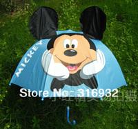 Free shipping cute blue Mickey children umbrella