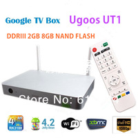 Ugoos UT1 RK3188 quad core TV BOX 2G/8G Double External Wifi Antenna TV Media Player set top box DHL free shipping