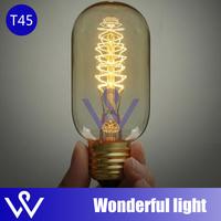ST45-B light bulbs vintage cord pendant lamp E27 edison bulb for restaurant club bars