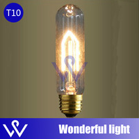 10 pcs factory Wholesale American vintage Antique edison silk bulb Lamp E27 socket T10 220V/110V lamp free shipping