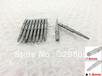 Gray Metal 40mm Length 1.8mm Triangle Head Magnetic Screwdriver Bits