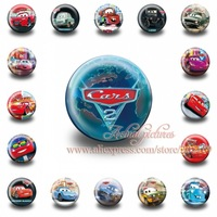 A Set of 18Pcs  Cars  Tin Buttons pins badges,30MM,Round Brooch Badge For Children Toy ,Mixed 18 Styles,Kids Party Favor