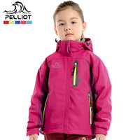 Pelliot child outdoor jacket male female child outdoor three-in twinset parent-child clothes  Free Shipping
