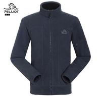 Pelliot fleece clothing male outdoor thickening thermal anti-static polar fleece fabric cardigan fleece clothing  Free Shipping