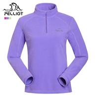 Pelliot fleece clothing female outdoor ultra-light thermal polar fleece fabric pullover clothes outdoor jacket liner