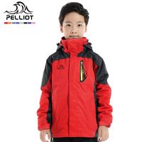 Pelliot child outdoor jacket male female child fleece detachable twinset waterproof hiking clothing  Free Shipping