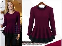 2014 new spring winter fashion t-shirt women long sleeve item t shirt brand design cotton blouses top for woman plus size