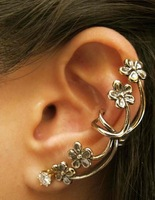 Wholesale Hot Selling 2014 New European and United States Fashion Vintage Exaggeration Flower Clip Earring Cheapest JE92