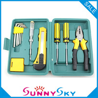 Free Shipping! Combination Toolkit Repair set .11PCS/BOX,Car Tool kit Household tools Hardware Plier Screwdriver Tool box
