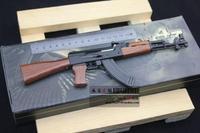 Metal artificial gun,ak47 - pallets toy gift model,bullet steel ball bb,gun model,free shipping,drop shipping.