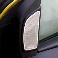 Hot sale,Ford Focus 2012 stainless steel speaker trim tweeter decoration speaker stickers,auto accessories