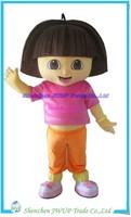 Dora The Explorer Mascot Costume Christma Cartoon Costume Character Costume for Adult Free shippping