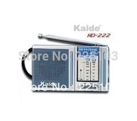 Free Shipping orginal transistor radio Kaide KD-222 KD222 AM/FM radio receiver  portable Mini radio the old man with the radio