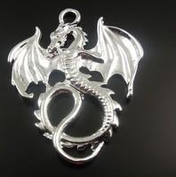 Fashion Jewelry Vintage Silvers Legend Fancy Flying Dragon Charms Pendants Fit  Bracelets Jewelry  Findings 50pcs 28*35mm Z2542