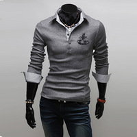 Free Shipping 2013 Summer Short-Sleeve Hot Selling Male Polo Shirt Turn-Down Collar Polo Tee Shirts for Men Famous Top Brand