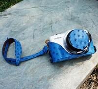 Ostrich grain genuine leather  for panasonic   gf5 x camera bag case base set back cover