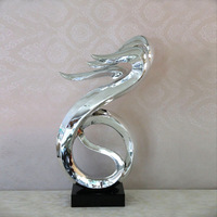 Silver resin abstract art sculpture home decoration soft
