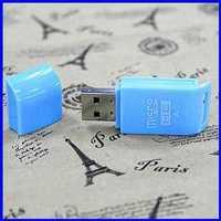 Free shipping USB 2.0 micro sd card reader memory card reader,tf card readerRY5003