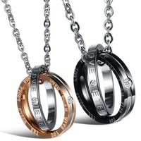 Luxury Jewelry Accessories His And Hers Couple Necklace& Pendants For Men And Women Fashion Jewelry 2014